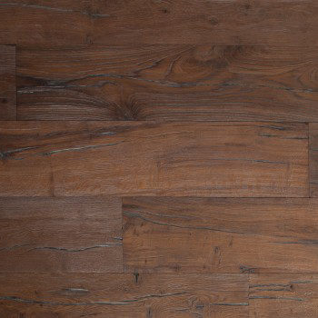 distressed reclaimed textured hardwood flooring